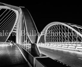Pont de Calatrava barcelone, pont la nuit, barcelone la nuit, bridge by night, barcelona by night