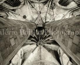 Voutes gothiques, voutes la cathédrale de la mer, colonnes gothiques.